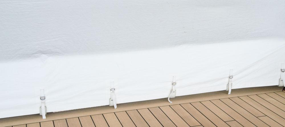 Bruns Yachtausstattung Regenschutz Moebelschutz Superyacht